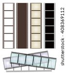 set of various types of film... | Shutterstock . vector #408369112