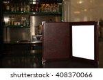 mock up menu frame on the... | Shutterstock . vector #408370066