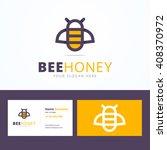 bee honey logo and business... | Shutterstock .eps vector #408370972