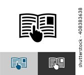 instruction manual icon. open... | Shutterstock . vector #408383638
