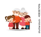 happy grandparents  design  | Shutterstock .eps vector #408387496