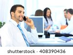 businessman talking on the phone | Shutterstock . vector #408390436