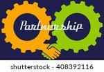partnership concept. handshake...   Shutterstock .eps vector #408392116