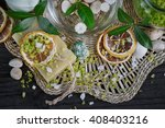 composition of spa treatment... | Shutterstock . vector #408403216