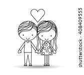 couple relationships design  | Shutterstock .eps vector #408409555