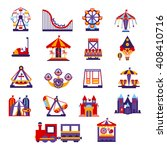 amusement park  primitive... | Shutterstock .eps vector #408410716