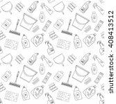 cleaner equipment products in... | Shutterstock .eps vector #408413512