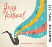jazz music festival. poster... | Shutterstock .eps vector #408414595