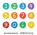 numbers set.colorful icons with ... | Shutterstock .eps vector #408421216