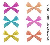 Set Of Bows. Vector. 6...