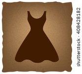 woman dress sign | Shutterstock . vector #408428182