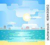 beautiful beach noon seascape.... | Shutterstock .eps vector #408430852