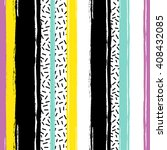 brushstrokes striped seamless... | Shutterstock .eps vector #408432085