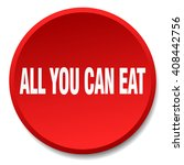 all you can eat red round flat... | Shutterstock .eps vector #408442756
