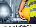 hand or arm of engineer hold... | Shutterstock . vector #408443926