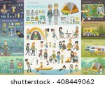 camping infographic set with... | Shutterstock .eps vector #408449062