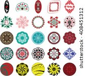 set of round ornament patterns  ... | Shutterstock .eps vector #408451312