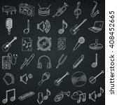 hand drawn musical instruments... | Shutterstock .eps vector #408452665