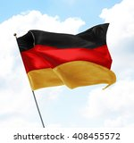 flag of germany raised up in... | Shutterstock . vector #408455572