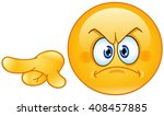 Angry Emoticon Pointing Out Or...