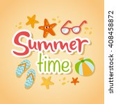 summertime traveling card with... | Shutterstock .eps vector #408458872