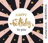 happy birthday greeting card ... | Shutterstock .eps vector #408459016
