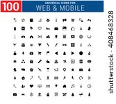 100 universal icon set for web... | Shutterstock .eps vector #408468328