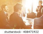 business team meeting... | Shutterstock . vector #408471922