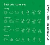 seasons icons set  spring ... | Shutterstock .eps vector #408476626
