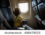 little boy looking out of... | Shutterstock . vector #408478525