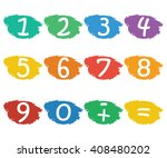 numbers set.colorful icons with ... | Shutterstock .eps vector #408480202