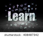 education concept  glowing text ... | Shutterstock . vector #408487342