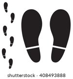 human foot print icon on white... | Shutterstock .eps vector #408493888