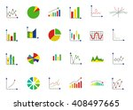 set of 24 charts vector icons  | Shutterstock .eps vector #408497665