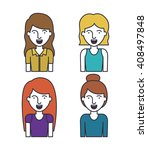 flat line people design  | Shutterstock .eps vector #408497848