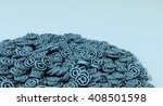 3d illustration of a pile of... | Shutterstock . vector #408501598