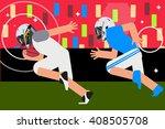 american football  flat design... | Shutterstock .eps vector #408505708