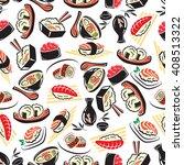japanese cuisine seamless... | Shutterstock .eps vector #408513322