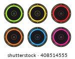 vector set of colored speaker | Shutterstock .eps vector #408514555