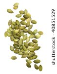 pile of pumpkin seed isolated... | Shutterstock . vector #40851529