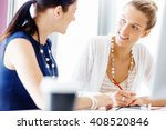 two female colleagues in office | Shutterstock . vector #408520846