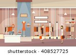 couple with shopping bags ... | Shutterstock .eps vector #408527725