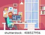 businessman working  | Shutterstock .eps vector #408527956
