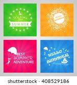 summer holidays labels design... | Shutterstock .eps vector #408529186
