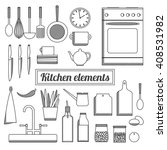 illustration of a kitchen... | Shutterstock .eps vector #408531982