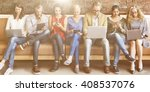 diversity people connection... | Shutterstock . vector #408537076