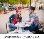 young beautiful stereotypical... | Shutterstock . vector #408546115