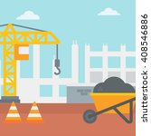 background of construction site. | Shutterstock .eps vector #408546886