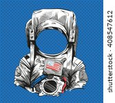 astronaut suit. hand drawn... | Shutterstock .eps vector #408547612