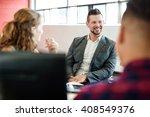 unposed group of creative... | Shutterstock . vector #408549376